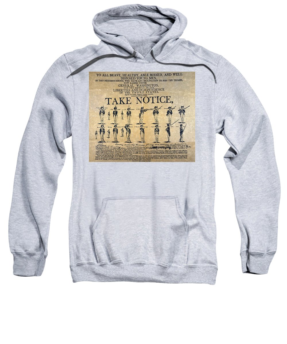 1798 Sweatshirt featuring the photograph Recruiting Broadside, C1798 by Granger