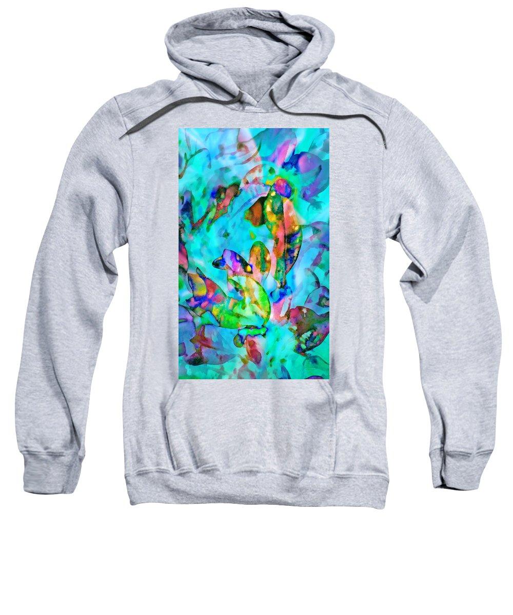 Reef Sweatshirt featuring the digital art Reef Life by Francesa Miller