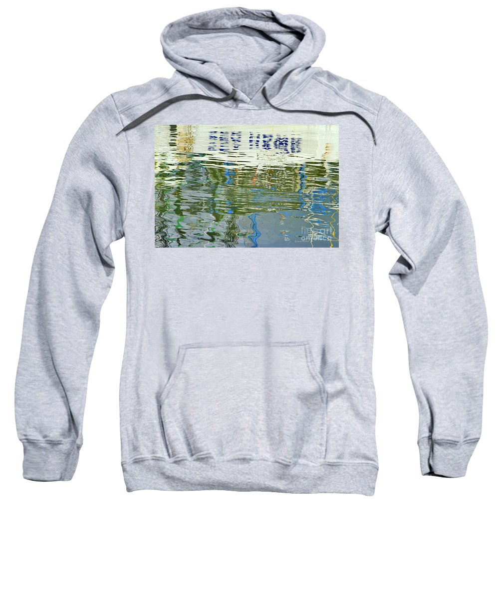 Reflections Sweatshirt featuring the photograph Reflective Water Abstract by Deborah Benoit