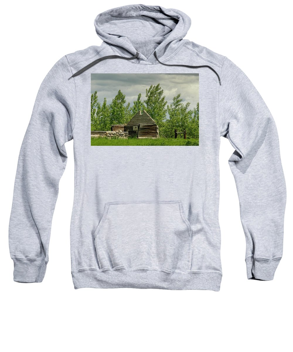 Americas Sweatshirt featuring the photograph Remaining Wall by Roderick Bley