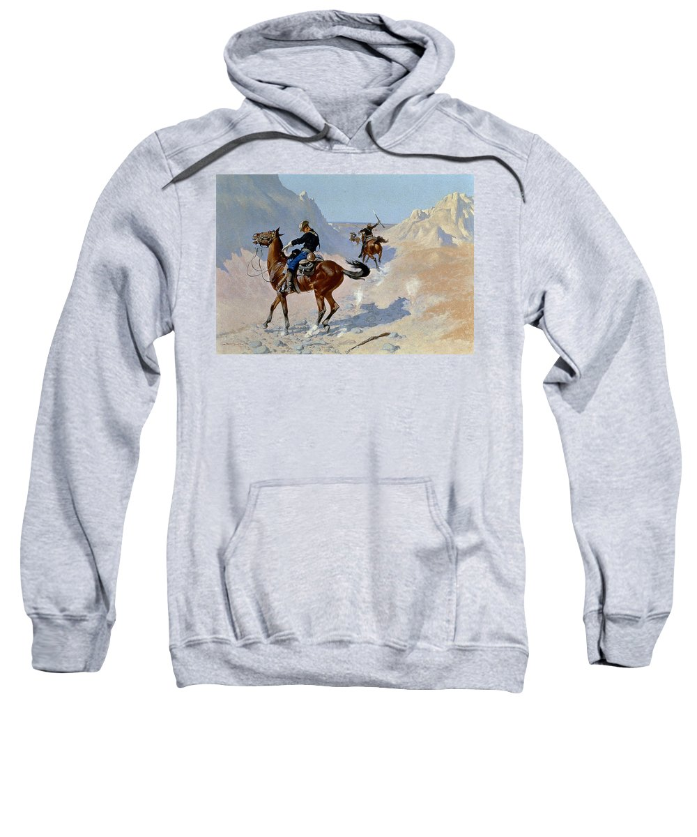 19th Century Sweatshirt featuring the photograph Remington: Guard, 1890 by Granger