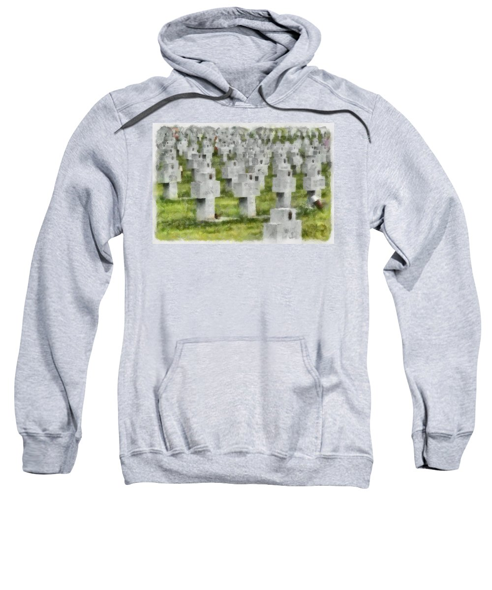 Cemetery Sweatshirt featuring the photograph Rest In Peace by Trish Tritz