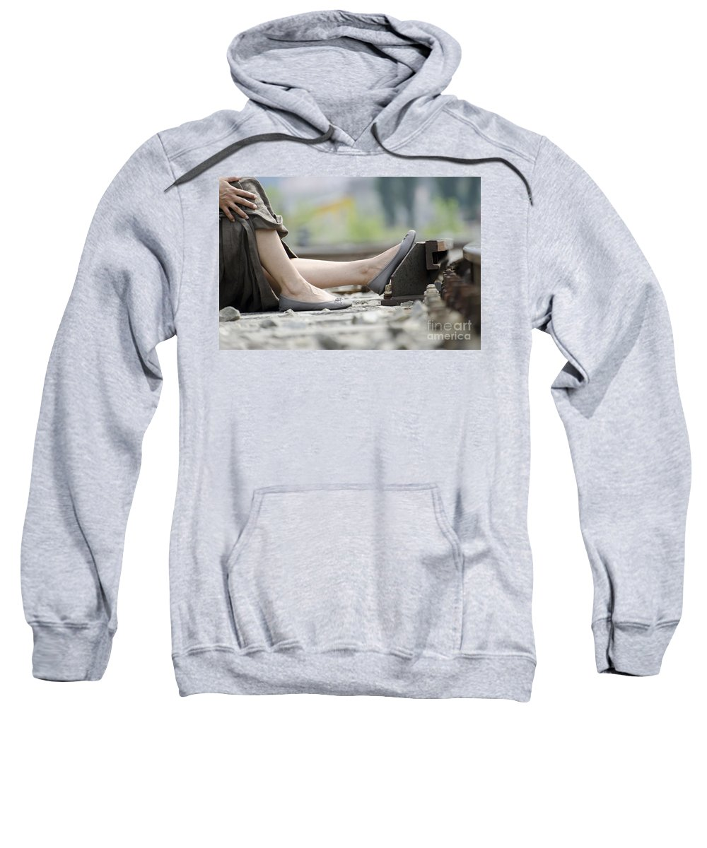 Woman Sweatshirt featuring the photograph Resting by Mats Silvan