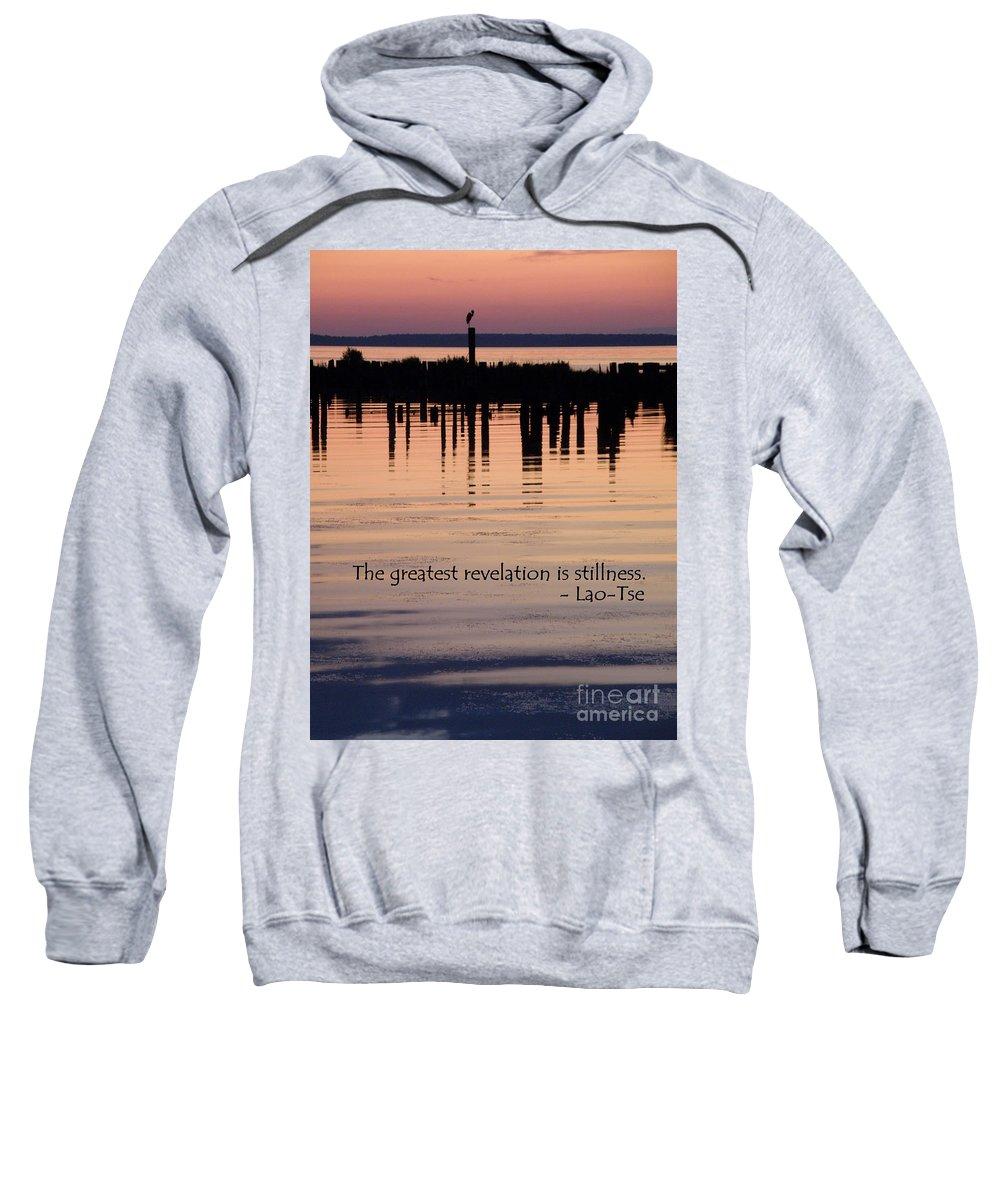 Stillness Sweatshirt featuring the photograph Revelation by Lainie Wrightson