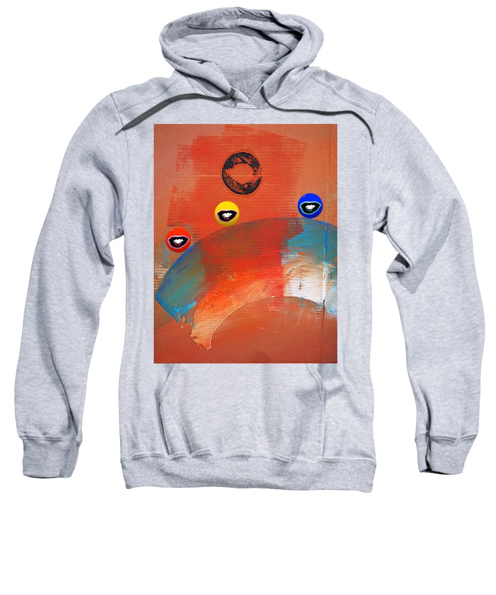 Andy Warhol Sweatshirt featuring the painting Ride A White Wave by Charles Stuart