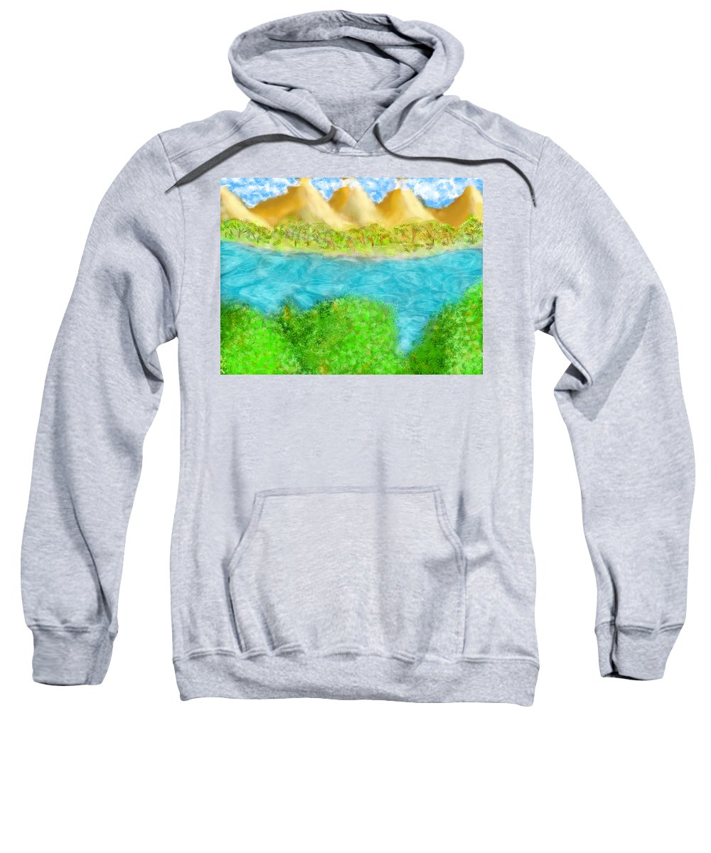 Sweatshirt featuring the digital art River by Mathieu Lalonde