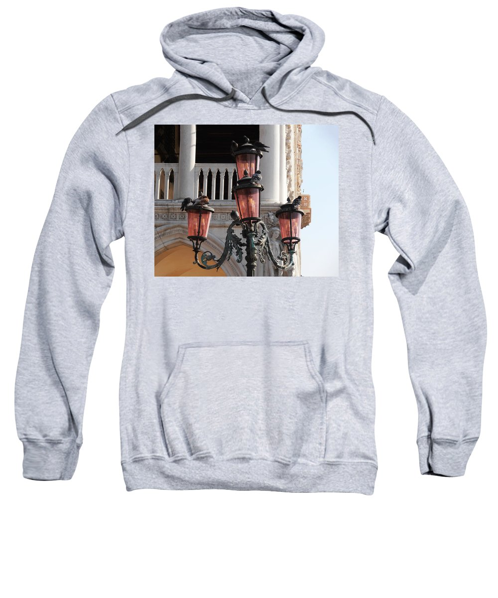 Roman Pigeons Sweatshirt featuring the photograph Roman Pigeons by Bill Cannon