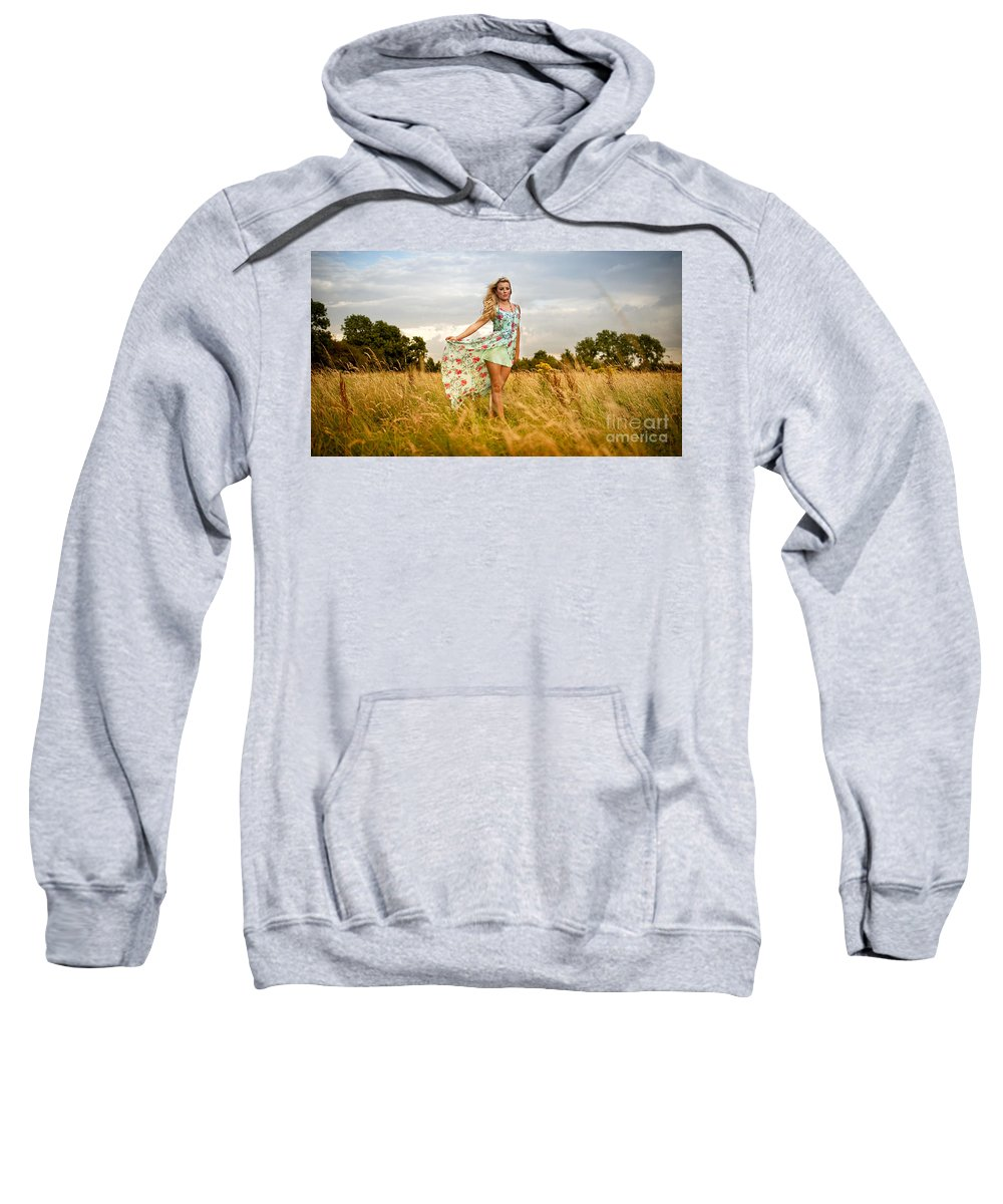Yhun Suarez Sweatshirt featuring the photograph Rosey1 by Yhun Suarez
