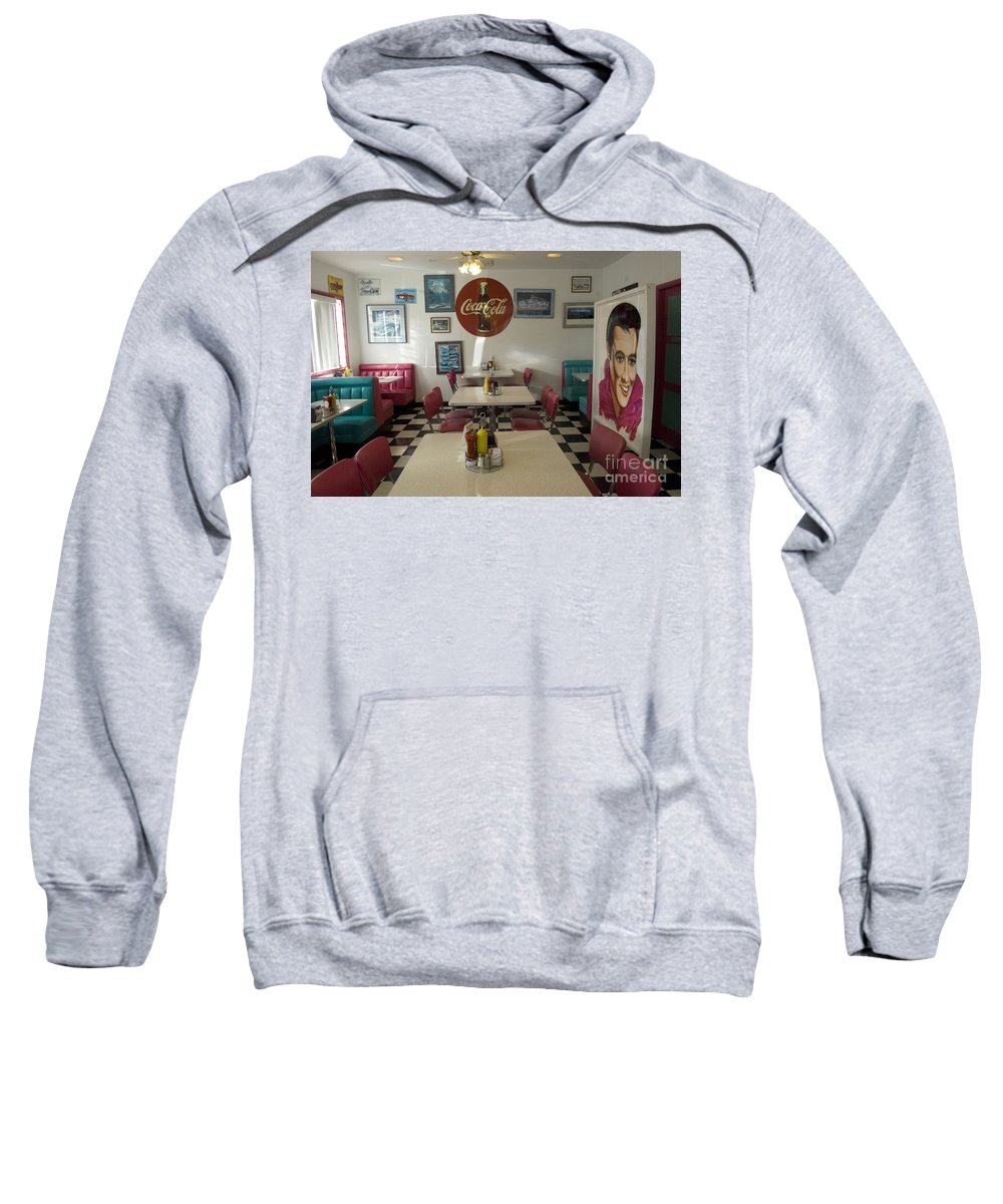 Flames Sweatshirt featuring the photograph Route 66 Burgers by Bob Christopher