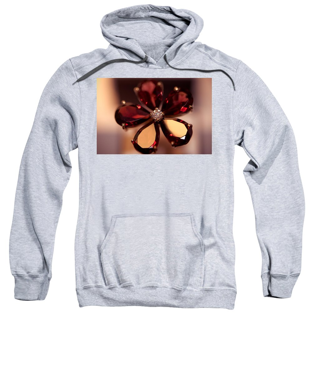 Ring Sweatshirt featuring the photograph Ruby Ring. Spirit Of Treasure by Jenny Rainbow
