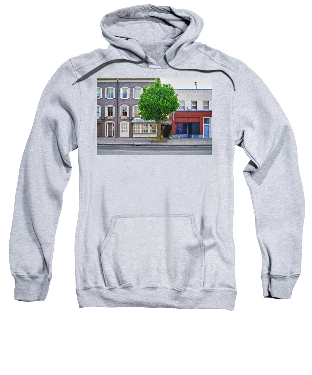 Architecture Sweatshirt featuring the photograph Rue Franklin by Guy Whiteley