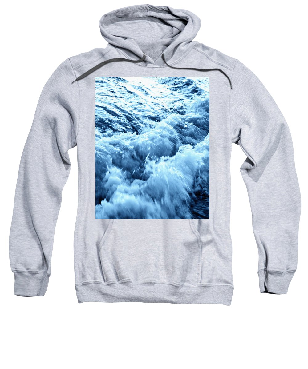 Accomplish Sweatshirt featuring the photograph Ice Cold Water by Skip Nall