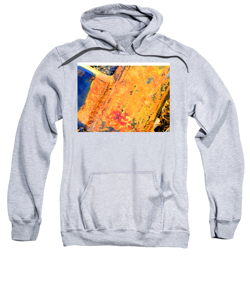 Abstract Sweatshirt featuring the photograph Rust 3 by Lenore Senior