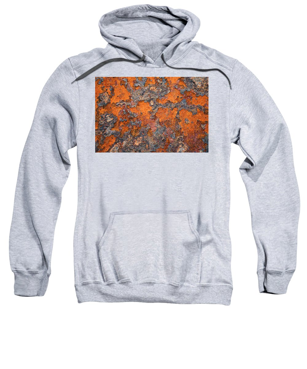 Rust Sweatshirt featuring the photograph Rusting Away by Ric Bascobert