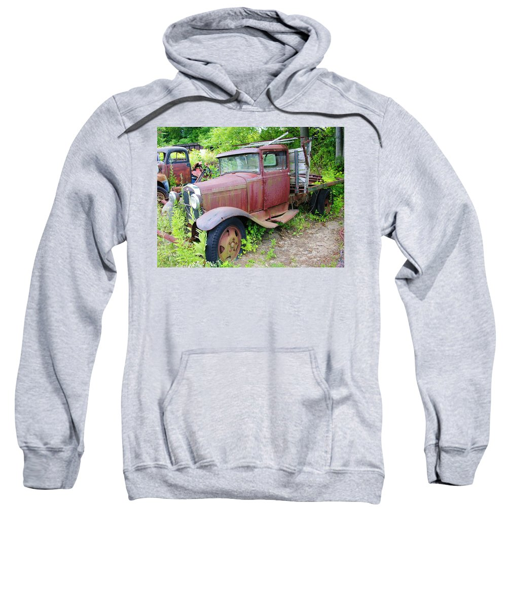 Old Truck Sweatshirt featuring the photograph Rusty Is Retired by Sherman Perry