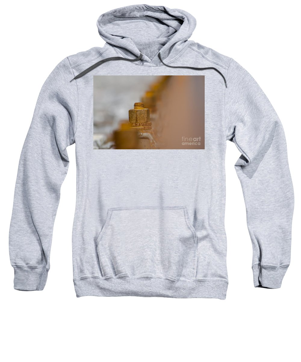 Screw Sweatshirt featuring the photograph Rusty Screw by Mats Silvan