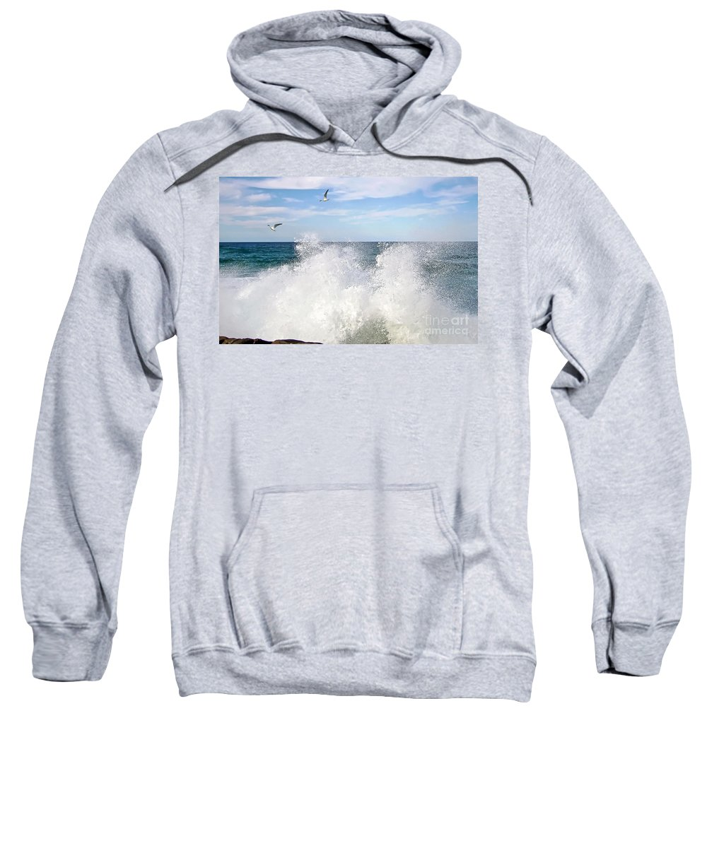 Photography Sweatshirt featuring the photograph S P L A S H by Kaye Menner