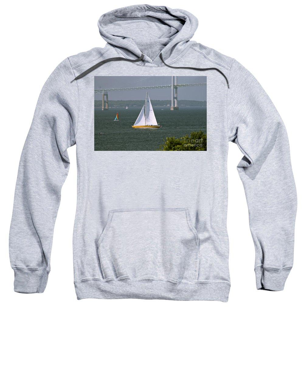Sailing Sweatshirt featuring the photograph Sailing Newport by Tim Mulina