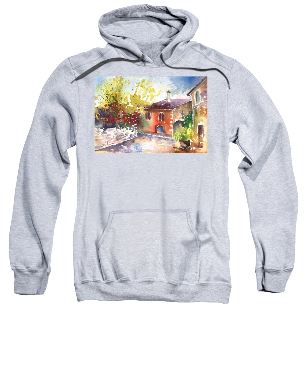 Travel Sweatshirt featuring the painting Saint Bertrand De Comminges 13 by Miki De Goodaboom
