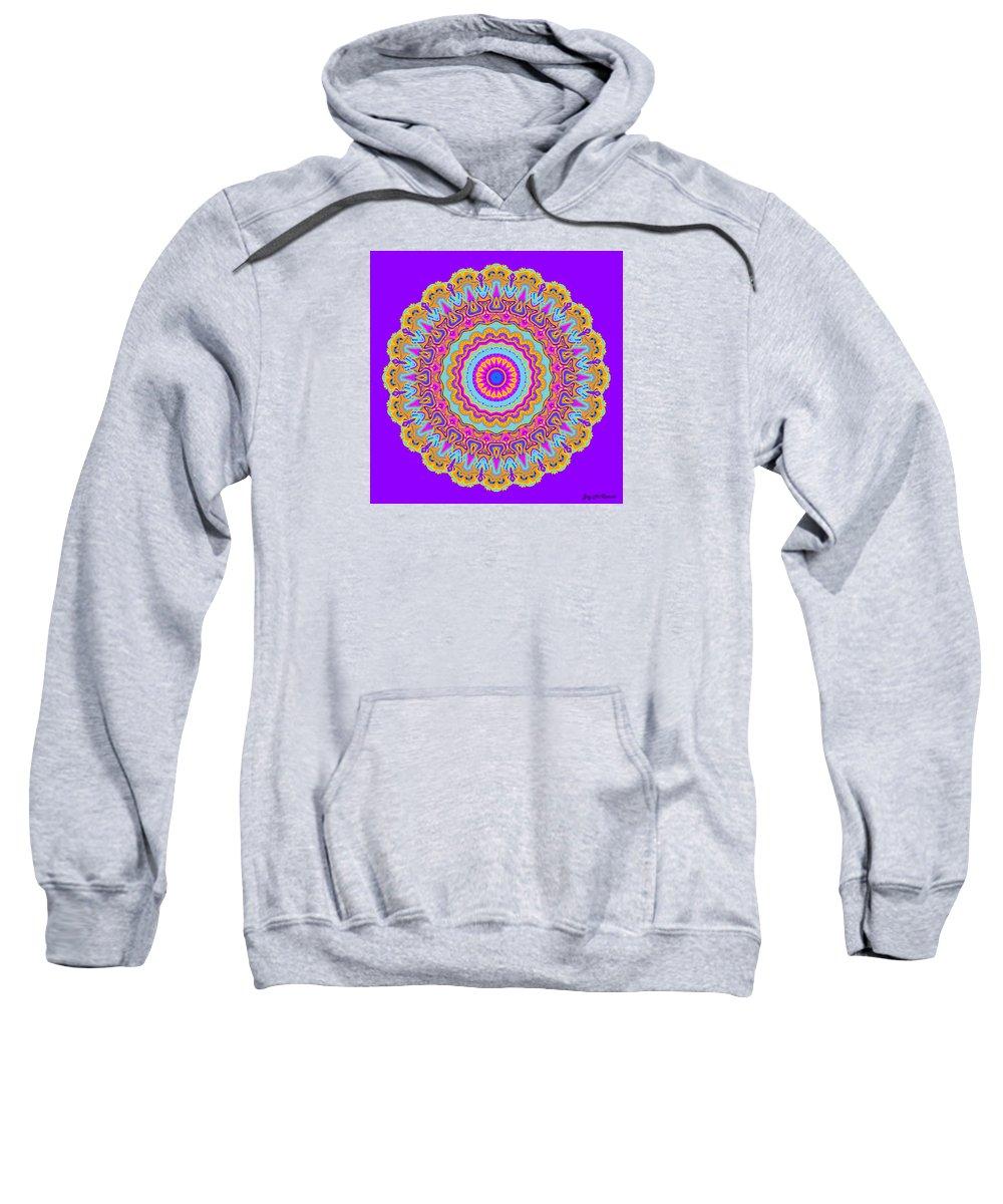 Digital Sweatshirt featuring the digital art Saltwater Taffy Mandala by Joy McKenzie