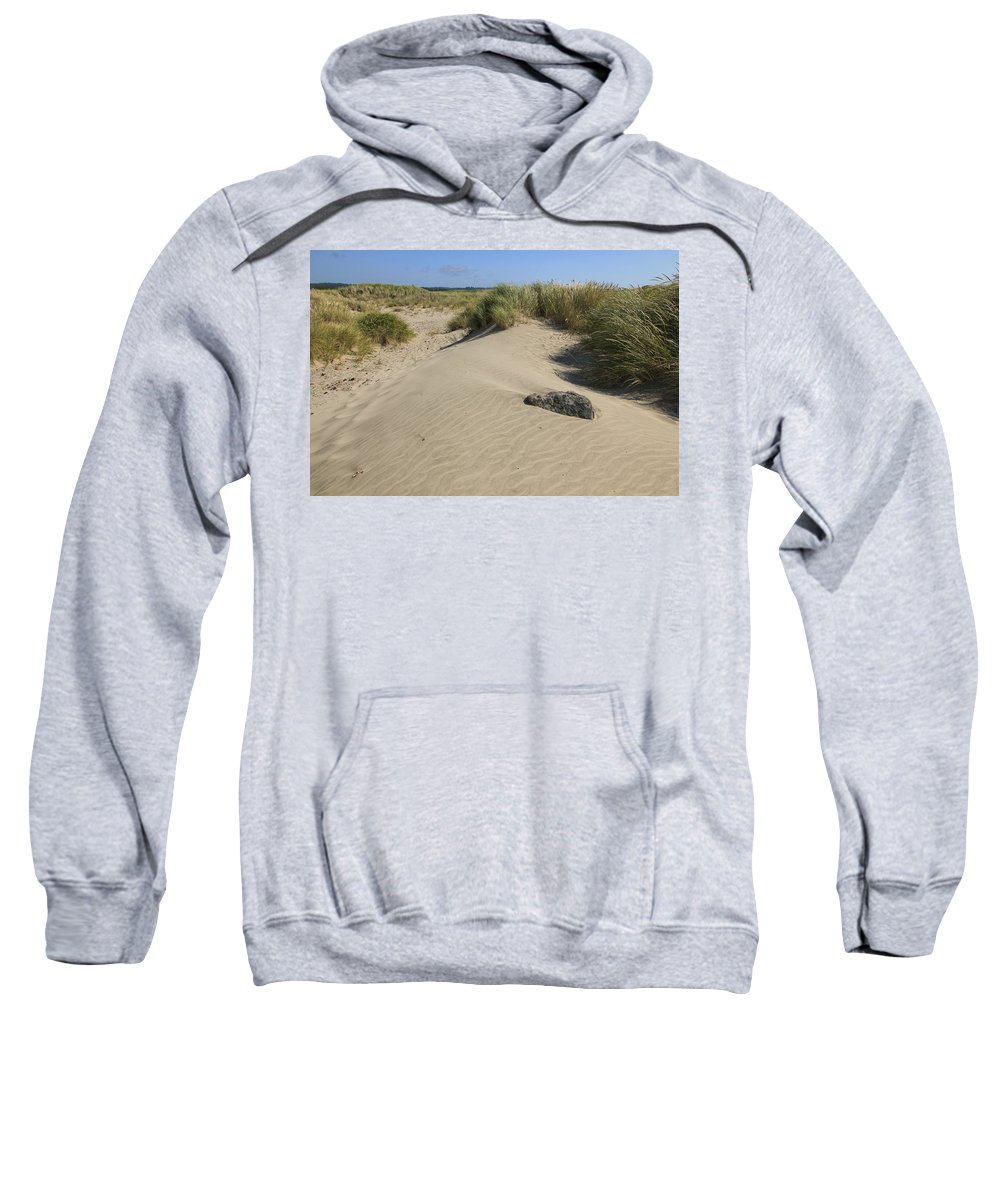 Sand Dunes Sweatshirt featuring the photograph Sand And Grass Dunes by Athena Mckinzie