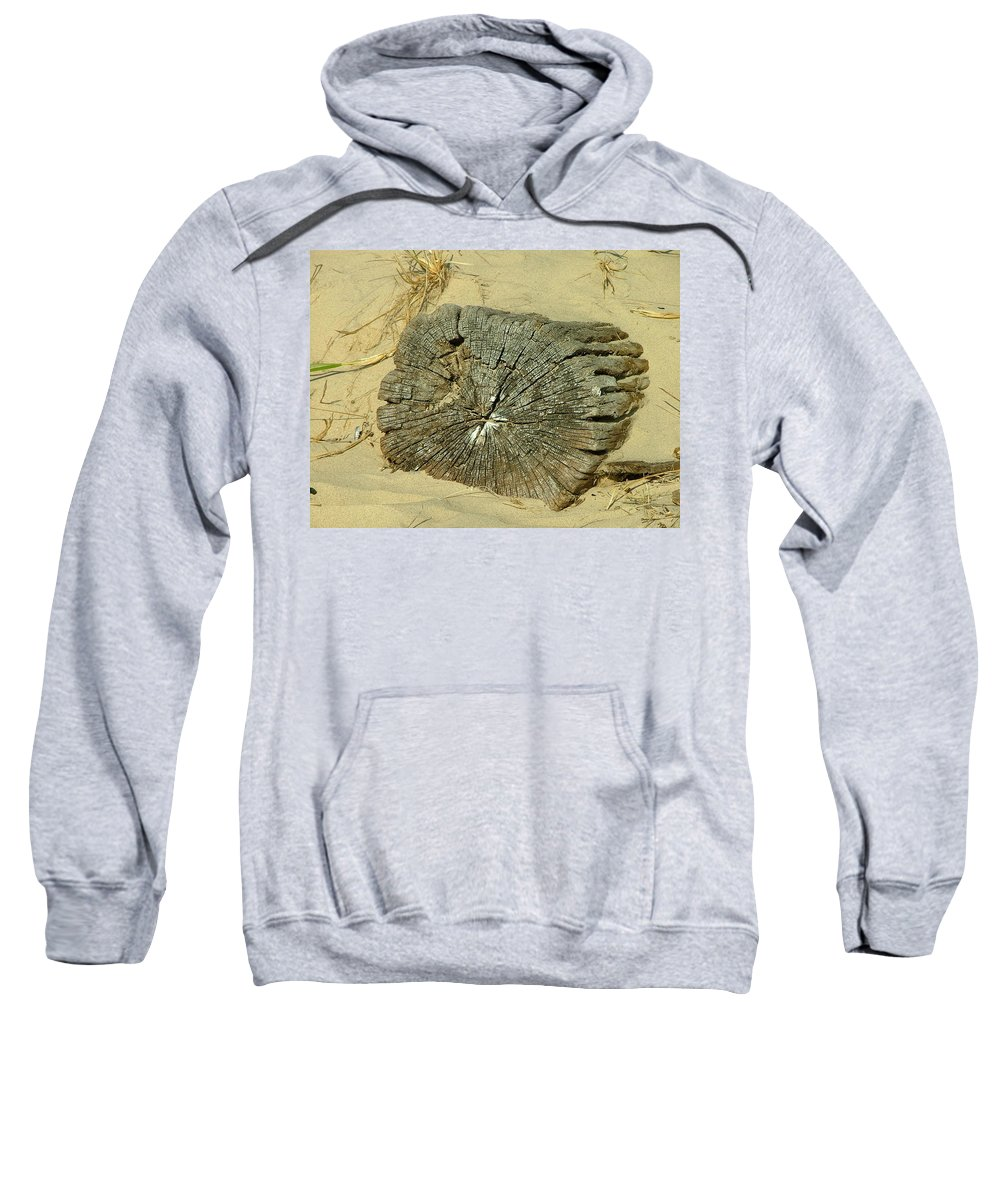 Landscape Sweatshirt featuring the photograph Sand And Wood by Dennis Pintoski
