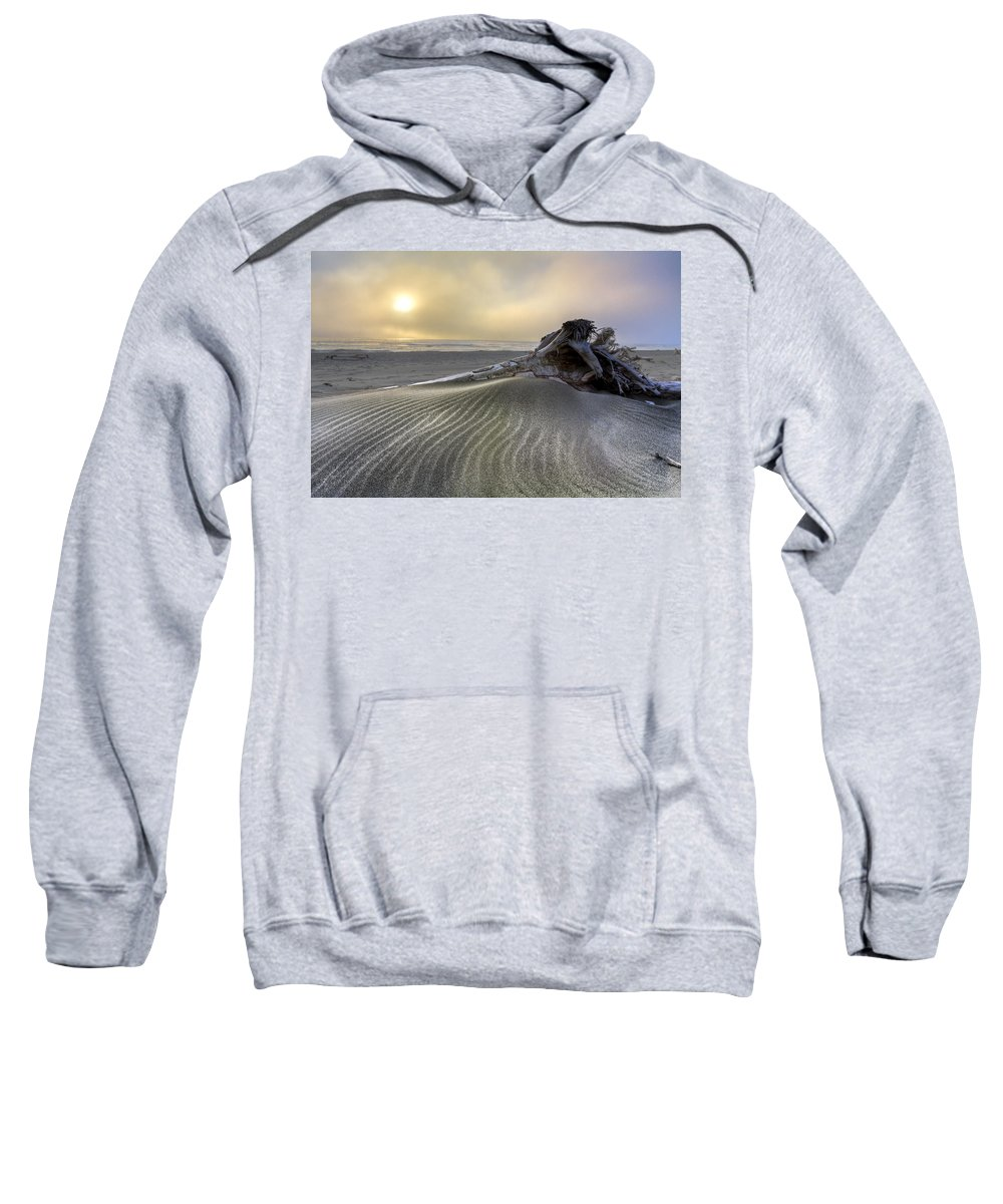 Clouds Sweatshirt featuring the photograph Sand Wrinkles by Debra and Dave Vanderlaan