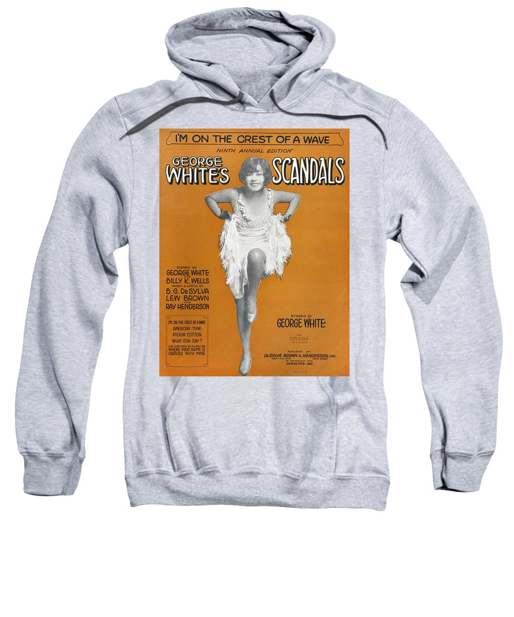 1928 Sweatshirt featuring the photograph Scandals Songsheet, 1928 by Granger