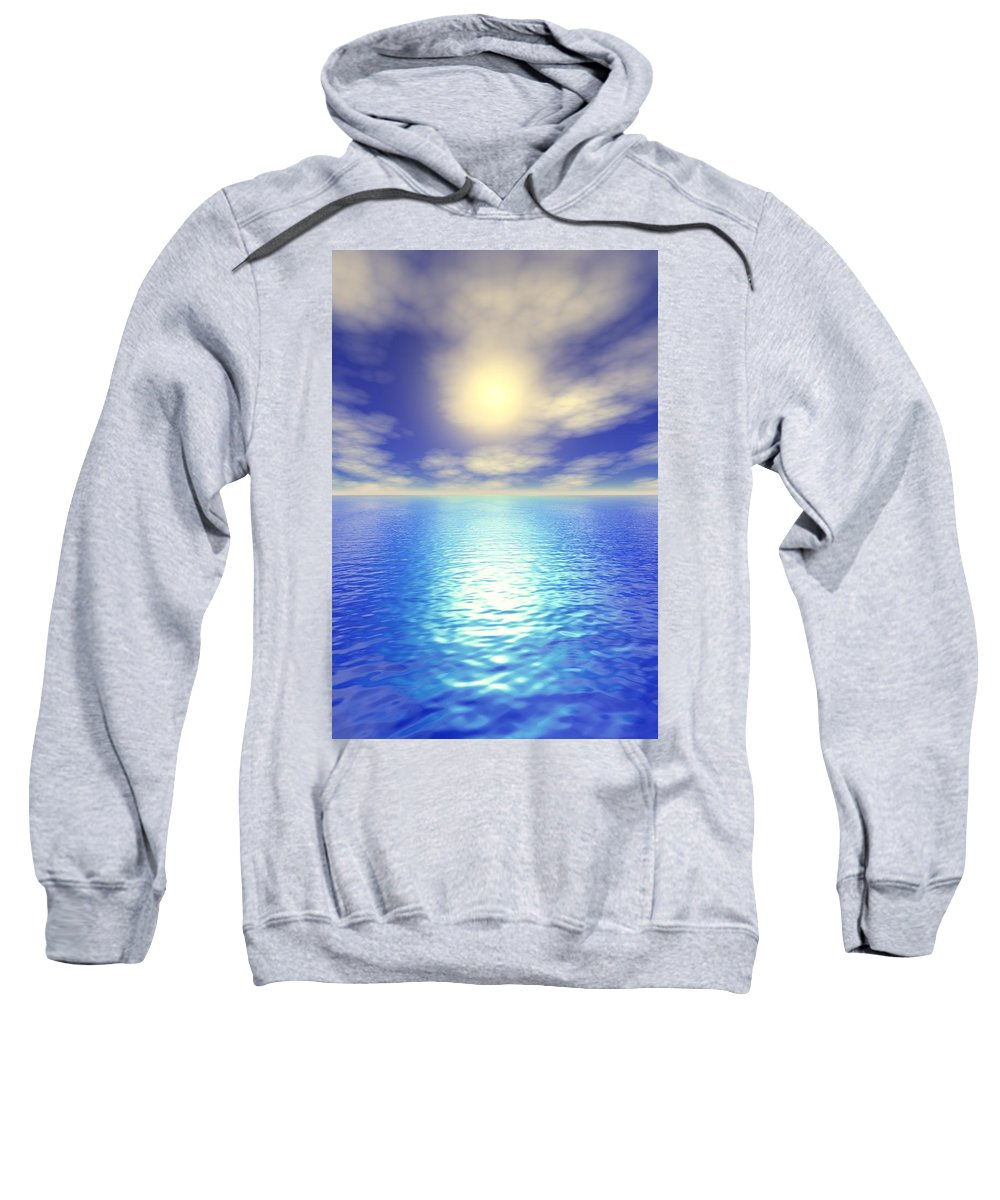 Clouds Sweatshirt featuring the photograph Scenic Ocean View by Paul Sale Vern Hoffman
