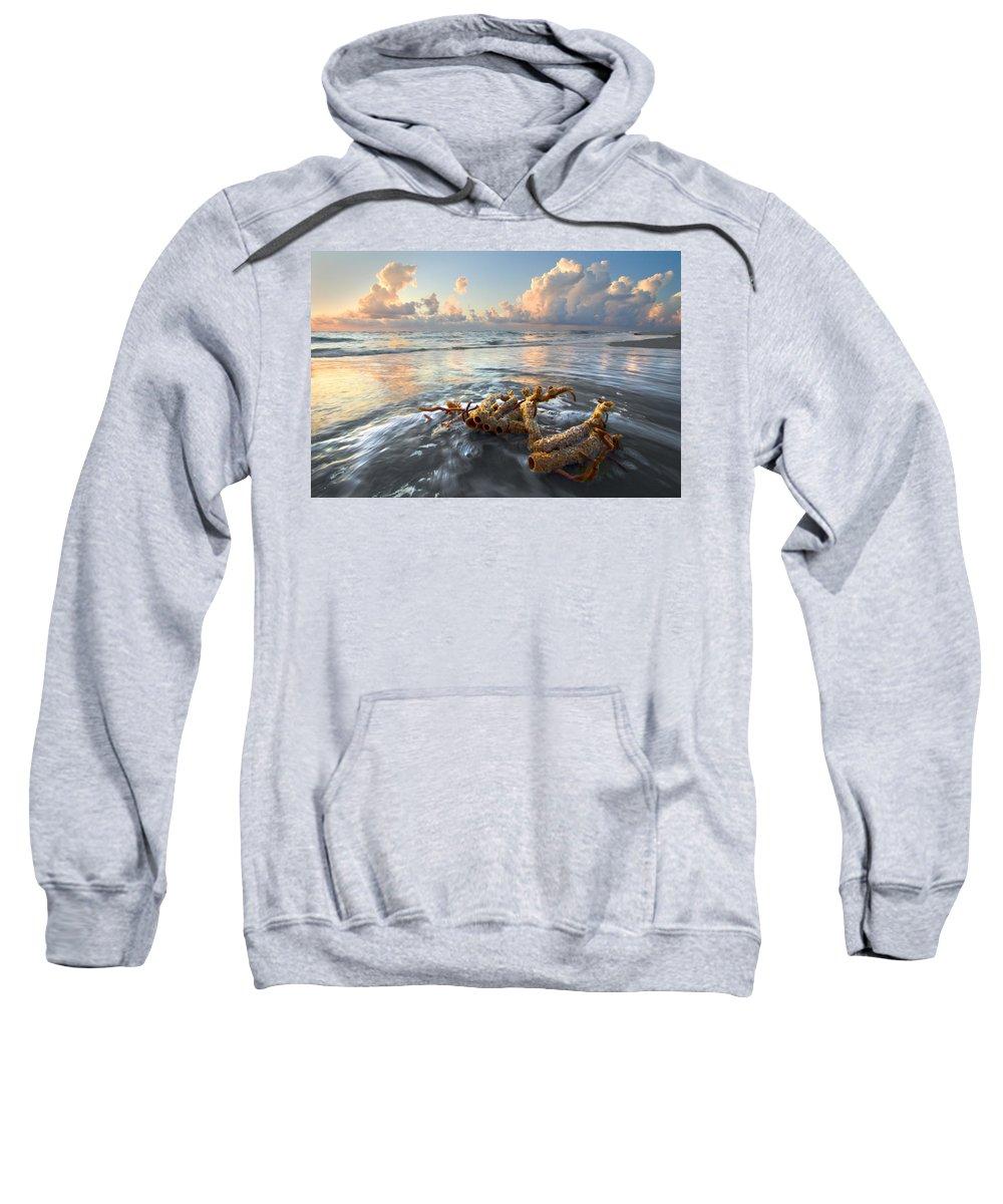 Clouds Sweatshirt featuring the photograph Sea Jewel by Debra and Dave Vanderlaan