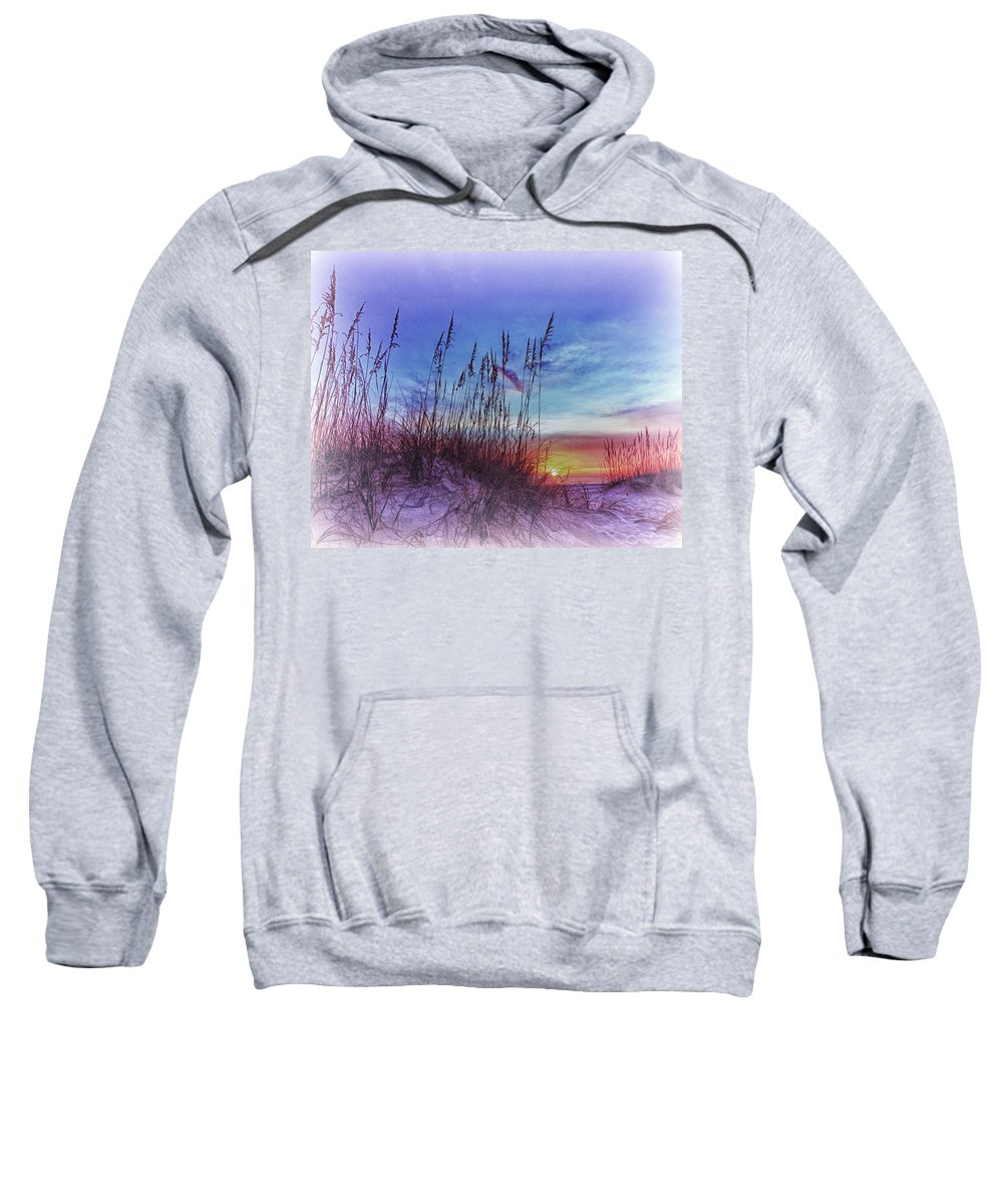 Absence Sweatshirt featuring the photograph Sea Oats 5 by Skip Nall