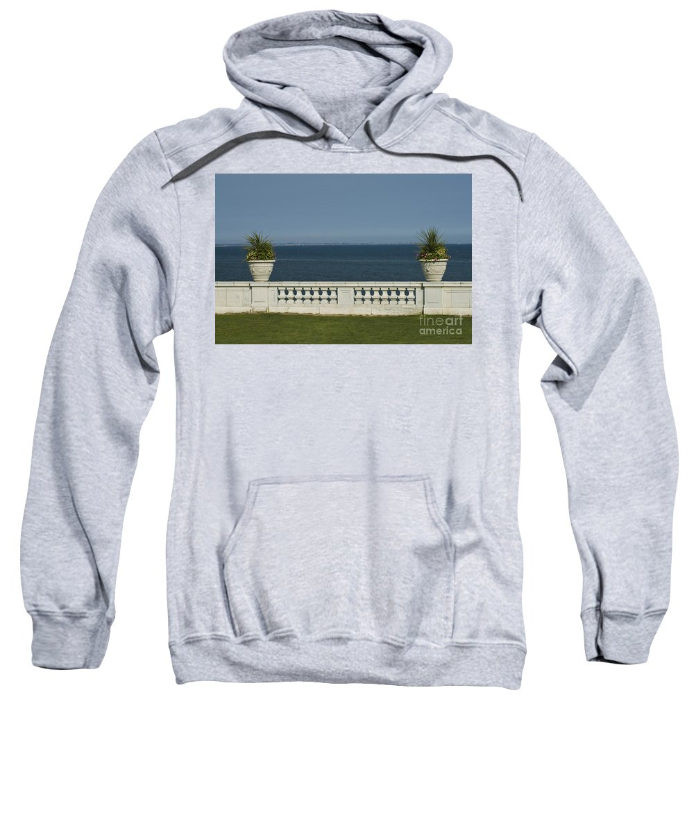 Fountain Sweatshirt featuring the photograph Sea View by Tim Mulina