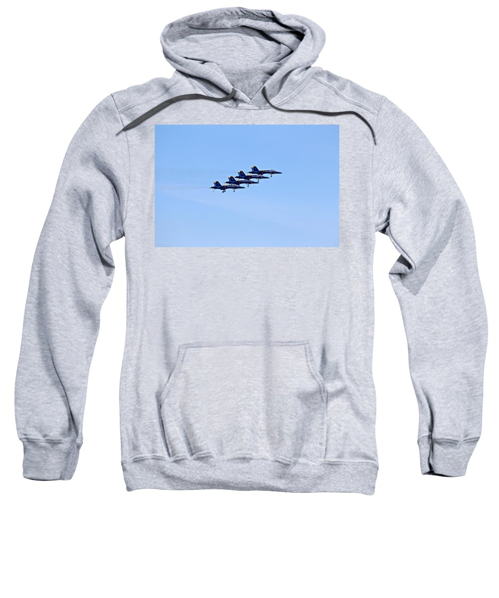 Aerobatics Sweatshirt featuring the photograph Seafair Blue Angels by Paul Fell