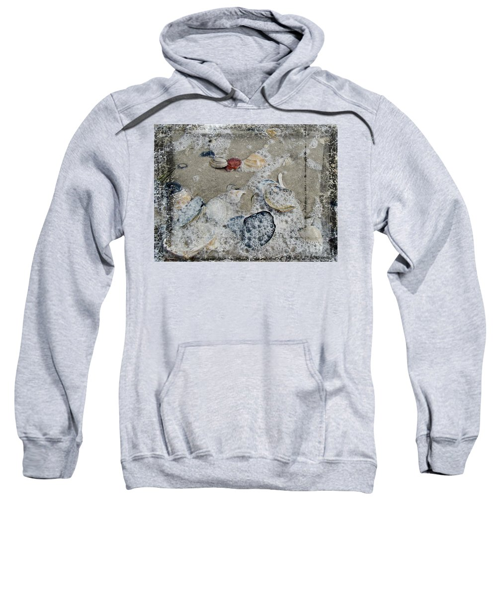 Shells Sweatshirt featuring the photograph Seashells In The Surf by Mother Nature