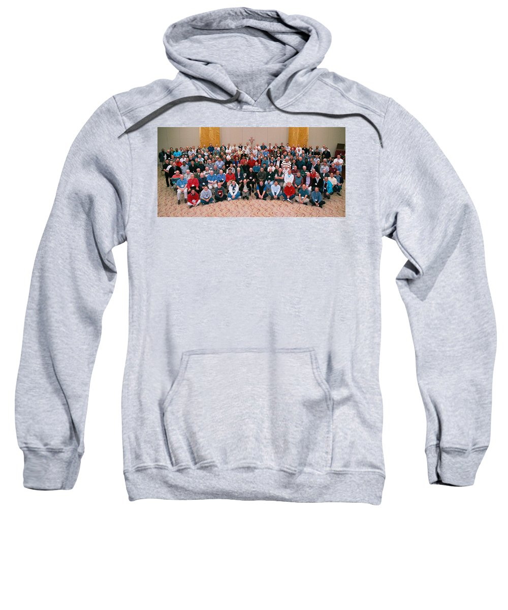 Seattle Archdiocese 2008 Priests. Sweatshirt featuring the photograph Seattle Archdiocese 2008 Priests. by Mike Penney