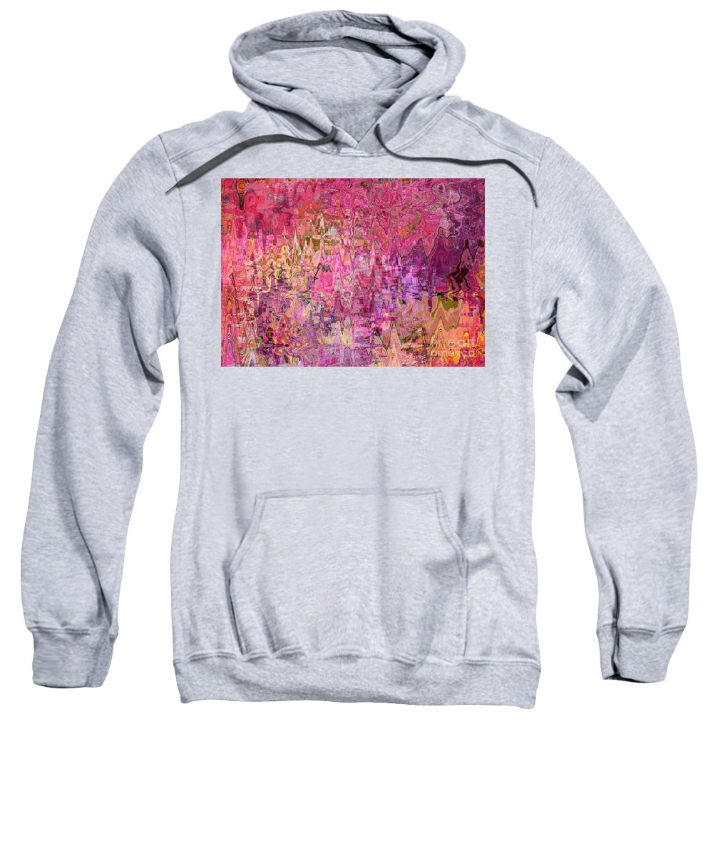 Colorful Abstract Sweatshirt featuring the digital art Shades Of Summer by Carol Groenen