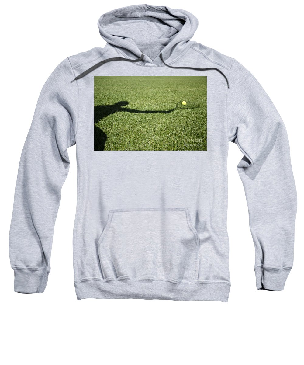 Tennis Sweatshirt featuring the photograph Shadow Playing Tennis by Mats Silvan