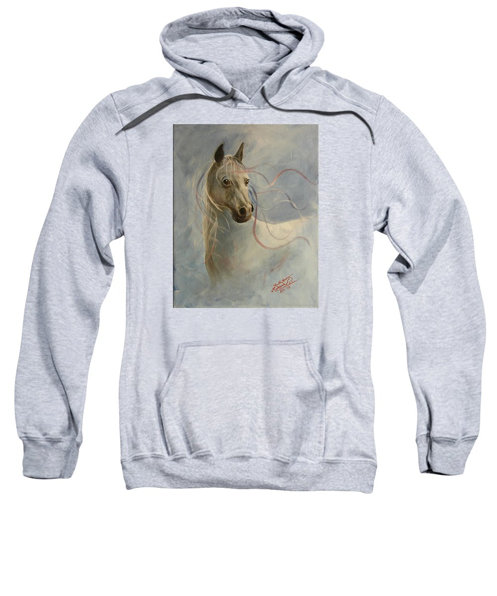 Horse Sweatshirt featuring the painting Shadow's Dance by Ruth Ann Murdock