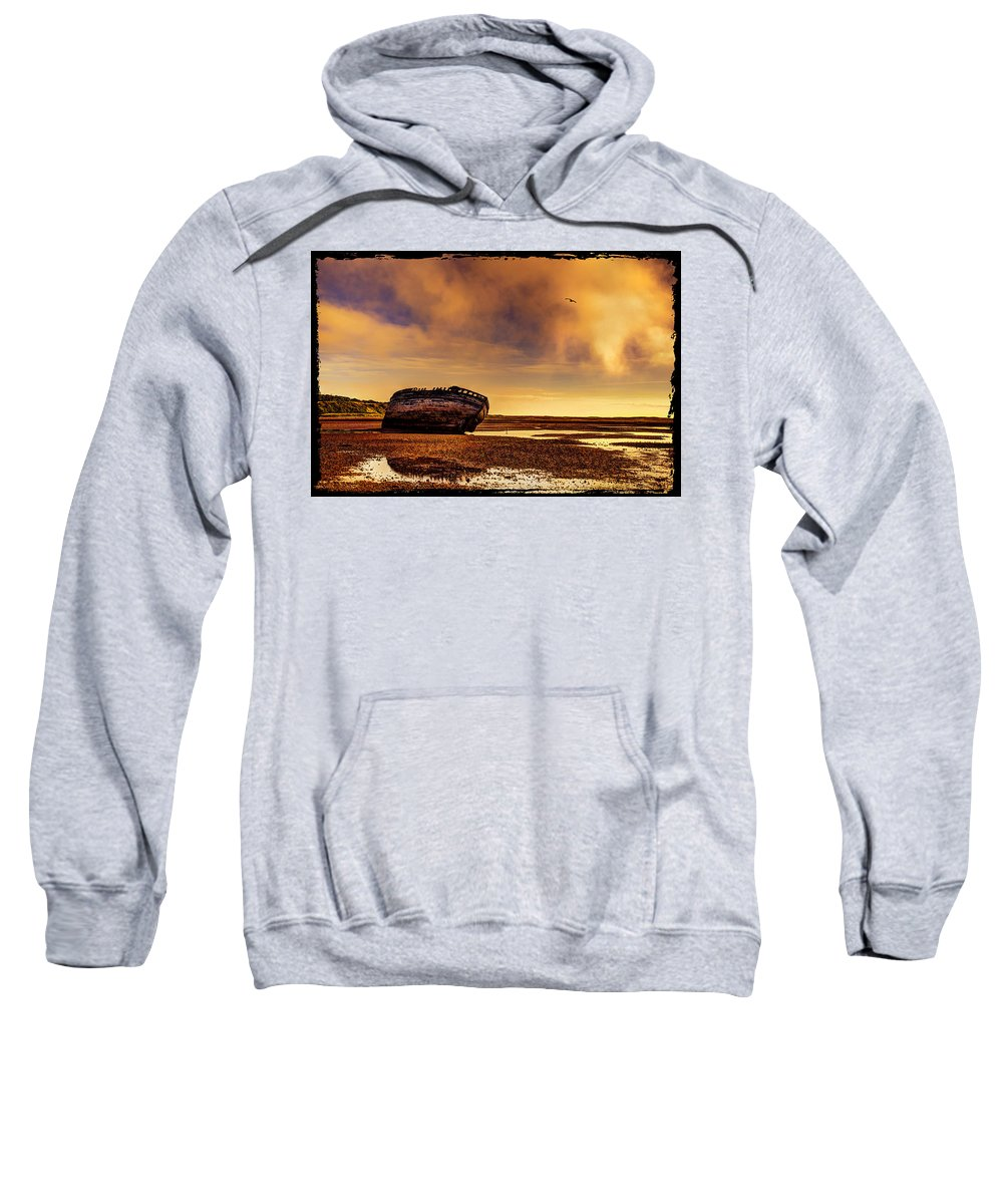 Shipwreck Sweatshirt featuring the photograph Shipwreck by Mal Bray