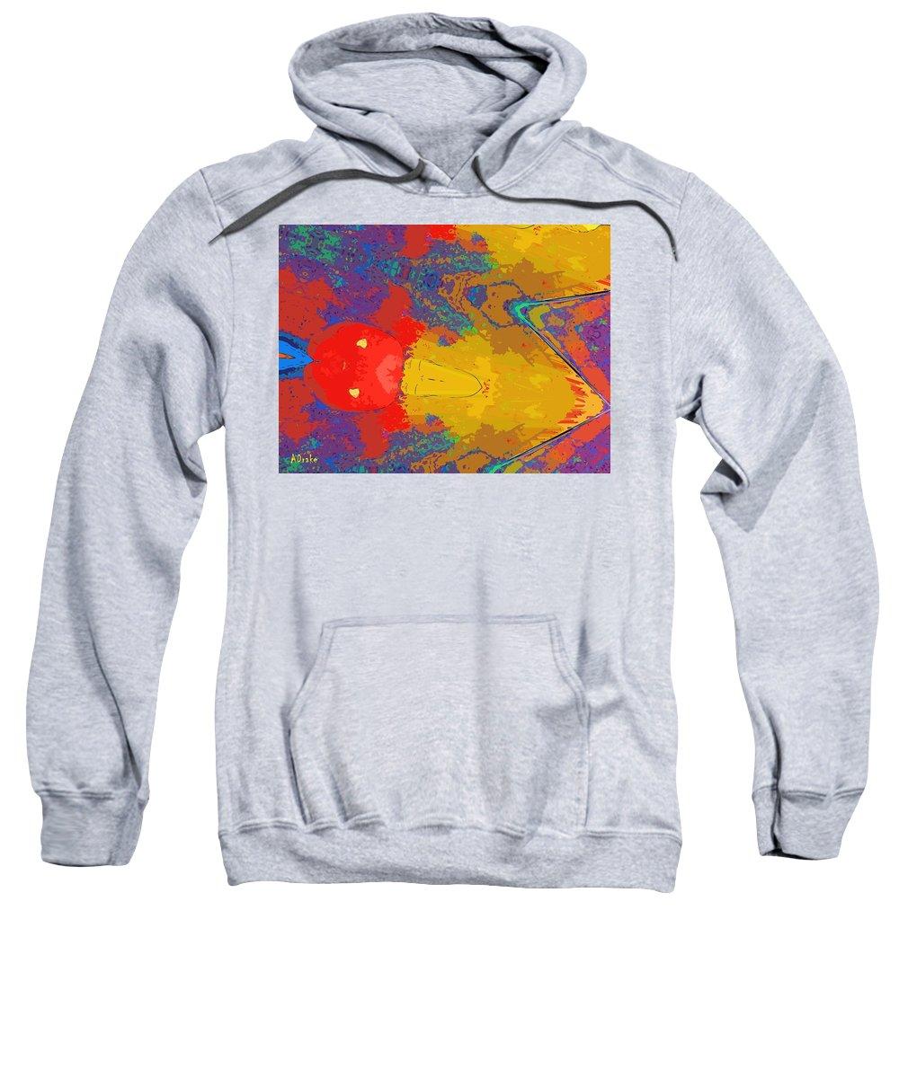 Shot Sweatshirt featuring the digital art Shot Through The Heart by Alec Drake