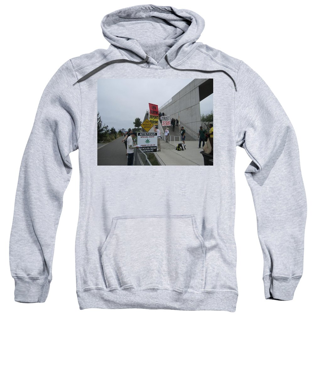 The City Sweatshirt featuring the photograph Sign Of The Times by Kym Backland