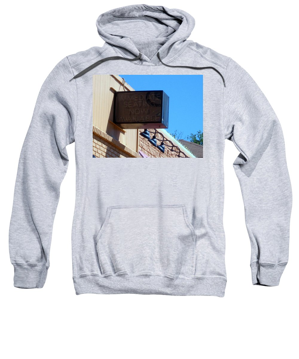 Sweatshirt featuring the photograph Signs by Amy Hosp