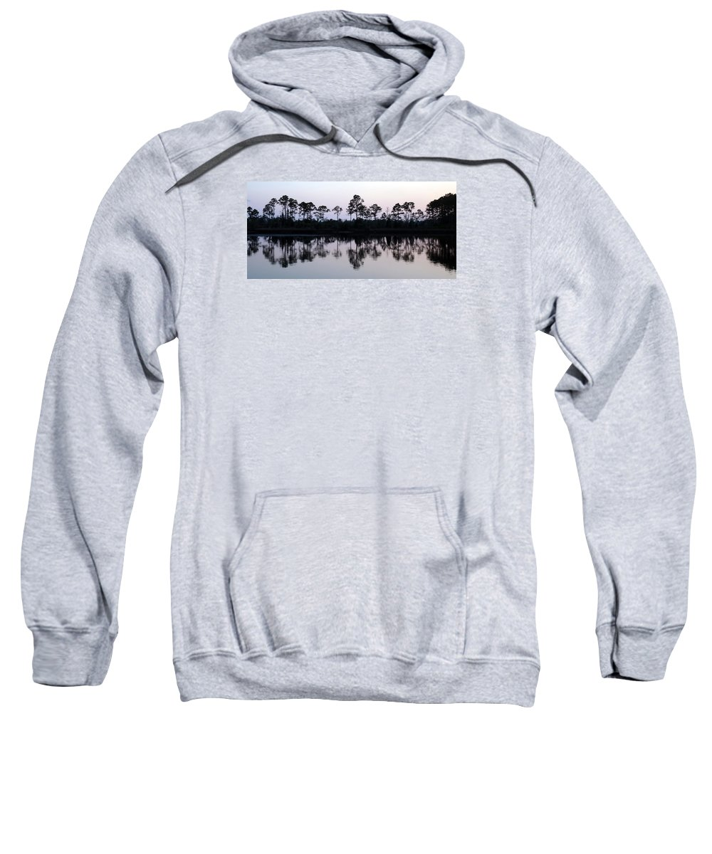 Trees Sweatshirt featuring the photograph Silhouetted Trees by Carla Parris