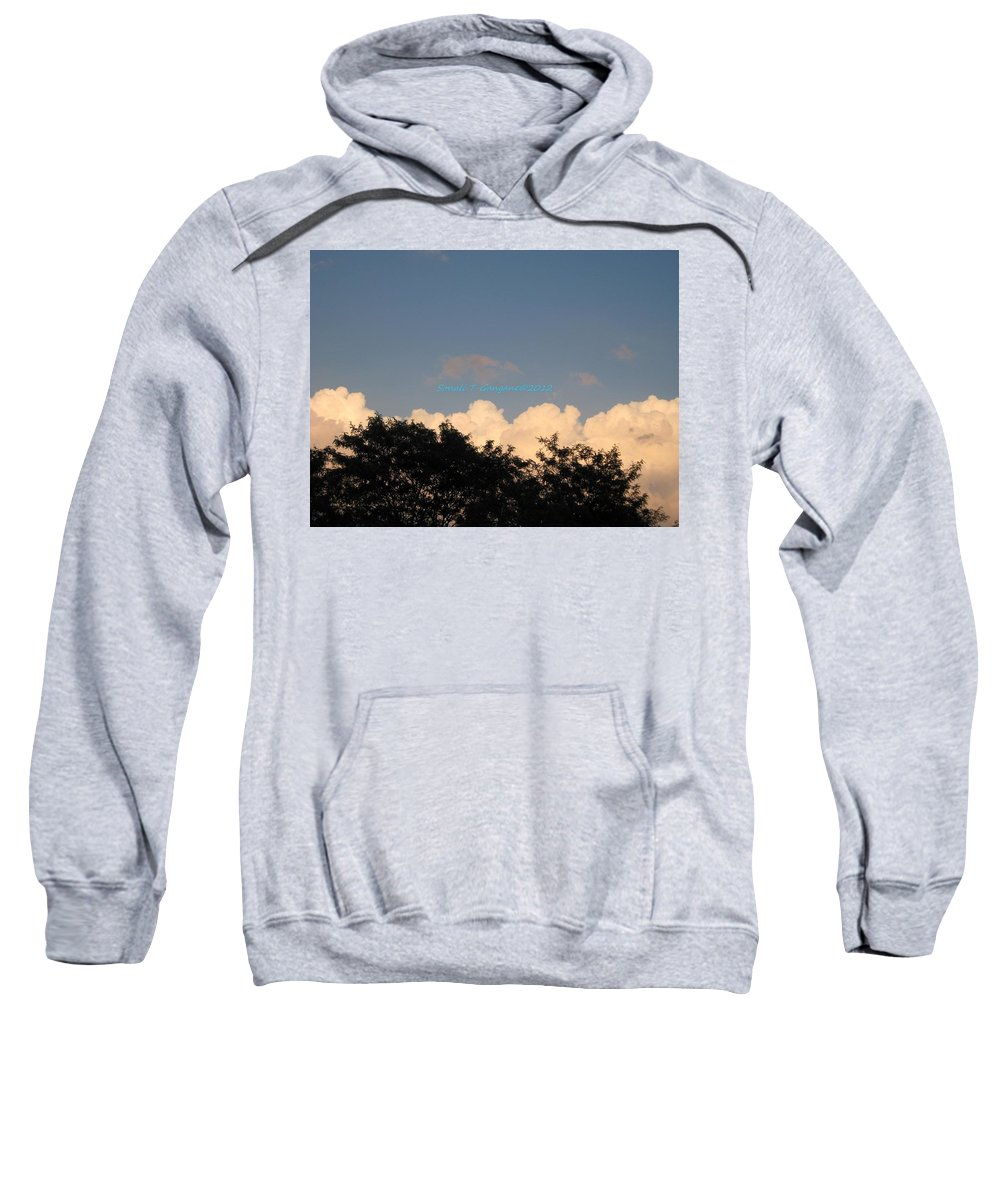Silver Clouds Sweatshirt featuring the photograph Silver Layer by Sonali Gangane