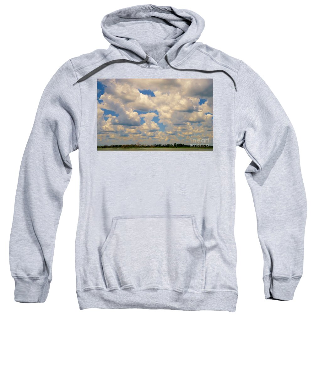 Cloud Sweatshirt featuring the photograph Sittin On The Dock Of The Bay by Art Dingo