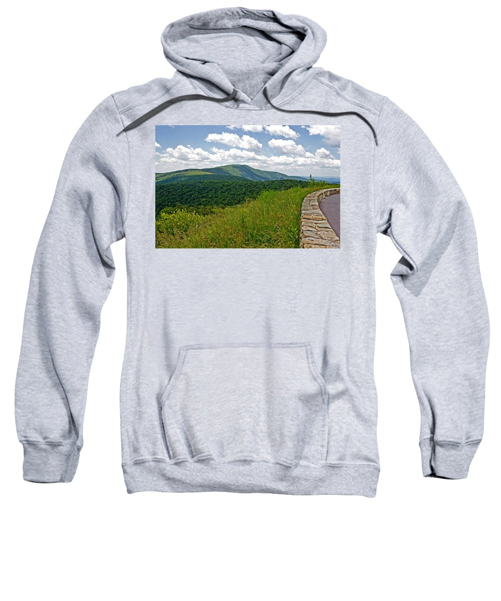 Nature Sweatshirt featuring the photograph Skyline Drive by Tom Gari Gallery-Three-Photography