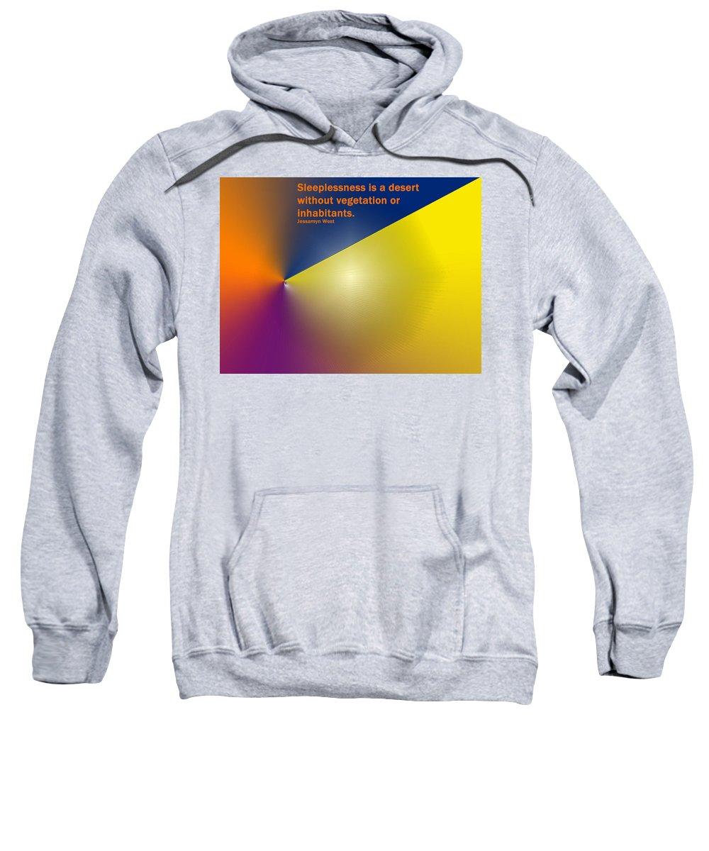 Poster Sweatshirt featuring the digital art Sleeplessness by Ian MacDonald