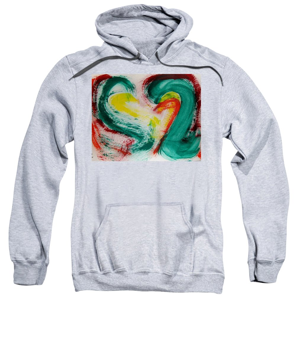 Peppers Sweatshirt featuring the painting Sliced Peppers by M and L Creations Craft Boutique