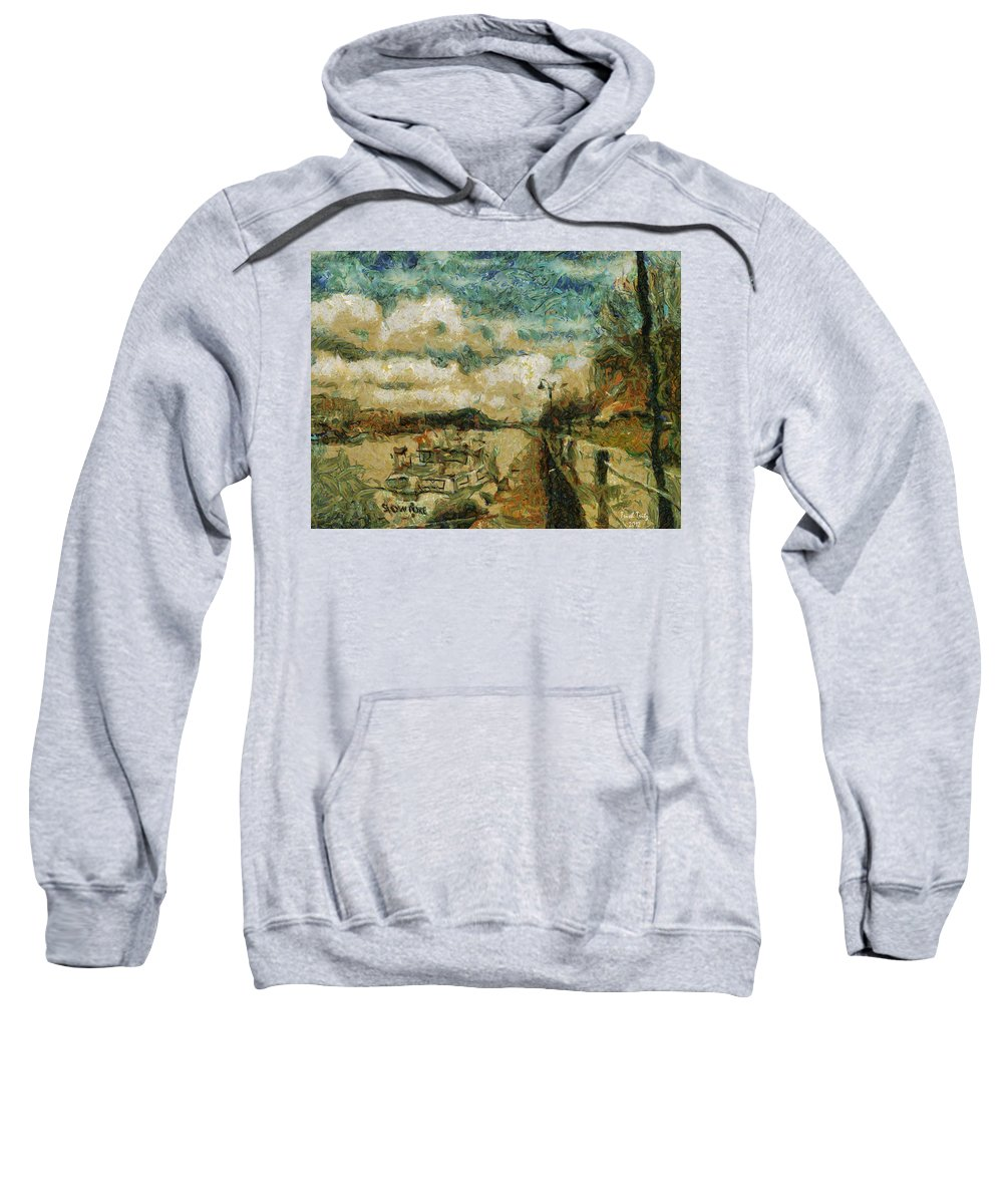 Boat Sweatshirt featuring the photograph Slow Poke by Trish Tritz