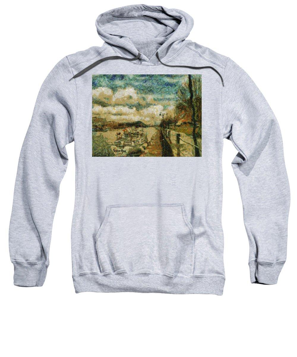 Boat Sweatshirt featuring the photograph Slow Poke by Trish Tritz